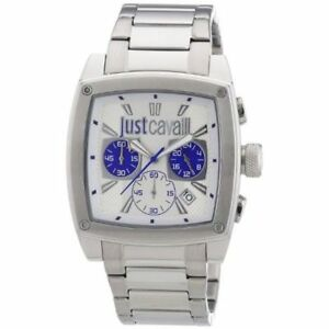 Just Cavalli Men's Pulp Chronograph Silver-Tone Dial Watch