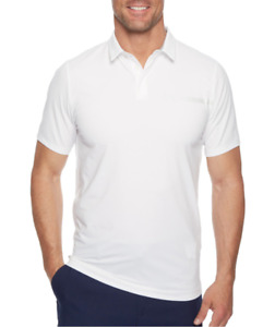 Under Armour Mens White Golf Perpetual Woven Polo T Shirt Sz M 1824