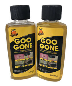12 Goo Gone Adhesive Sticker Crayon Grease Remover Citrus Cleaner 2 oz each
