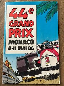 1986 F1 Monaco Programme SIGNED BY ALL DRIVERS Senna Ultimate Christmas Gift