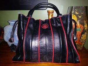 Joseph  Machini Italy Black and Red Soft leather hand bag Purse