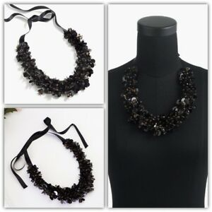 J.Crew Crystal and Paillette Fabric Statement Necklace NWT MSRP $98