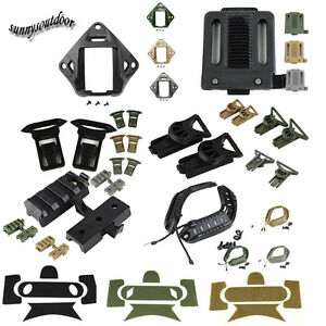 Tactical Fast Helmet Accessory ABS Buckle Picatinny Adapter Ops Core VAS Shroud