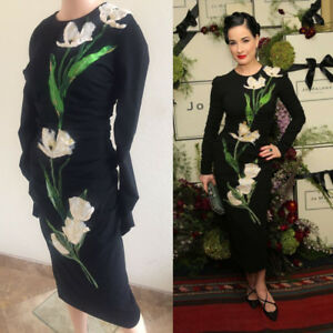 NWT DOLCE&GABBANA Embroidered Ruched Dress  404    9K
