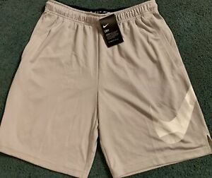 NWT Mens Nike XL Tall Gray White Light Gray BIG SWOOSH Dri Fit Shorts XL Tall $32.99