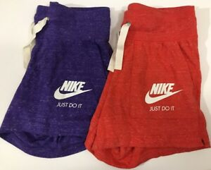 Nike Gym Vintage Womens XS Purple & Red Athletic Running Shorts 2 Pairs NWT