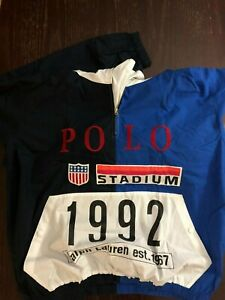 Polo Ralph Lauren Stadium 1992 Popover VINTAGE Pullover Jacket CP93 Size Large