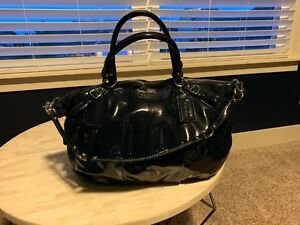 Coach 15915 Madison Patent Leather Large Sophia Cobalt Blue