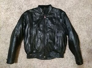 Hein Gericke Black Leather Motorcycle Riding Jacket w Thermoliner Women's 36W