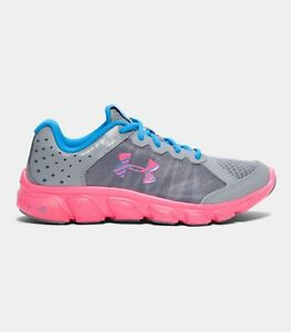 Youth Girl's Under Armour GGS Micro G Assert 6 Running Shoes SteelPink