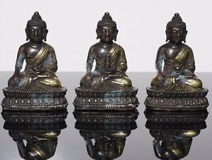 Three Tibeto Chinese Bronze Buddha Statues