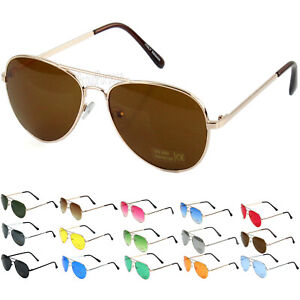 New Fashion Men's  Women's Aviator Sunglasses Metal Frame Retro Vintage Pilot