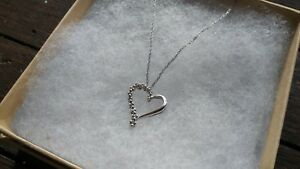Heart Shaped Diamond Necklace 10k White Gold from Fred Meyer Jewelers