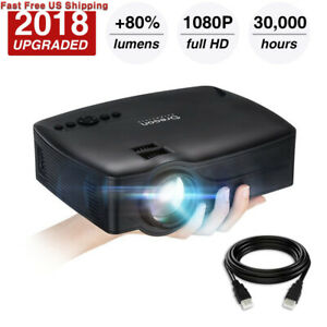 Projector2018 Upgraded (+80% Lumens) Video Projector 1080P Supported...