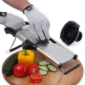 Slicer with Cut-Resistant Gloves and Blade Guard , Vegetable Julienne