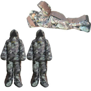 2x Backpacking Outdoor Camping Wearable Sleeping Bag with Arm Leg for Family