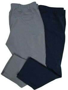 Under Armour Golf Casual Pants 42 x 30 Navy and Gray lot of 2 Flat Front