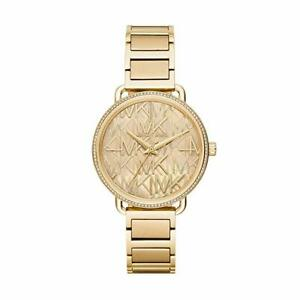 Michael Kors MK3886 Portia MK Logo Gold-Tone Women's Bracelet Watch 37mm NWT
