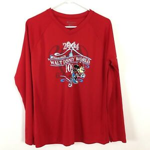 RARE Inaugural Walt Disney World 10K Running Shirt Large L Minnie Mouse Champion