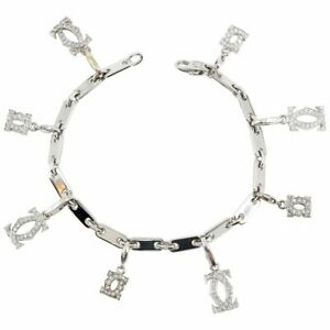 CARTIER Diamond and 18K White Gold Charm Bracelet