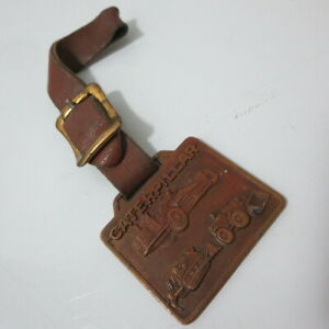 Vintage Caterpillar Pocket Watch Fob Syracuse Supply Co. Construction Equipment