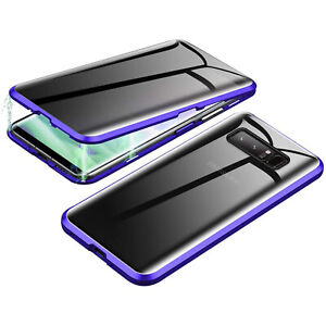 For Samsung Galaxy S10S10+ Plus Magnetic Adsorption Metal Tempered Glass Case