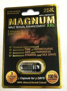 Magnum XXL 25000 (Pack of 12 ) Sexual Enhancement Pills Made in U.S.A.- NEW