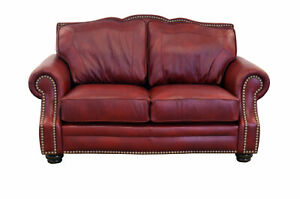 Westland and Birch Winchester Leather Loveseat
