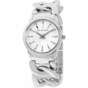 NWT Michael Kors Women's Elena Stainless Steel Chain Bracelet Watch MK3607 $250