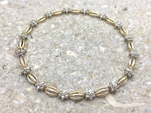 Women's 10K Yellow & White Gold 12 CT Diamond Tennis Bracelet 7.5