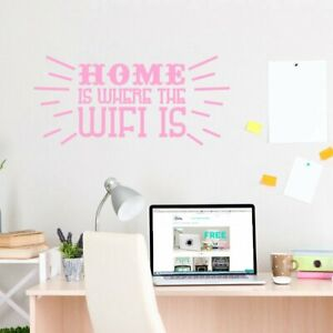Home Is Where The Wifi Is Wall Decal 48-inch wide x 22-inch tall