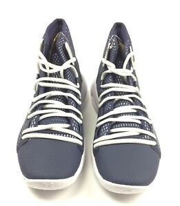 New Under Armour HOVR Havoc Mid Basketball Shoes Men's 9 Navy White 3020617 $85.99