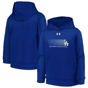 Los Angeles Dodgers Under Armour Youth Armour Fleece Pullover Hoodie - Royal