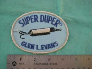 Vintage Glen L Evans Super Duper Fishing Lure    Uniform Hat Patch