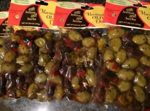 GREEK MARINATED OLIVE MEDLEY WITH LEMON AND HERBS 4 POUCHES 8.8 OZ EACH FAST SH
