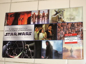 2011 Star Wars TARGET Exclusive 8 Limited-Edition LITHOGRAPHS Complete SAGA! Blu