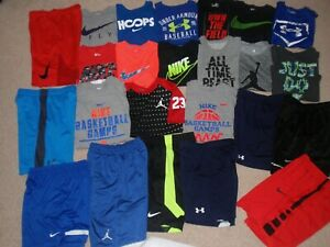 Sz Boys Youth Medium M 10-12 ALL Under Armour Nike T-Shirt Top Shorts Outfit Lot