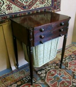 RARE CIRCA 1810 FEDERAL SALEM ANTIQUE STAND ATTRIBUTED TO WILLIAM HOOK BARGAIN $3100.00
