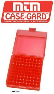 MTM Ammo Box 100 Rd Flip Top For 22 Mag 17 HMR Clear Red # P-100-22M-29