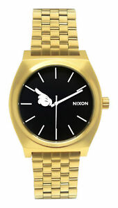 Nixon A0453097 Time Teller Gold Black Mickey Hand Dial Steel Bracelet Watch New