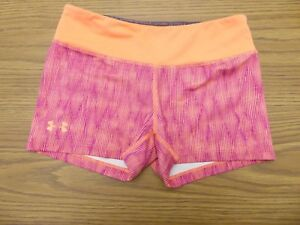 Under Armour Shorts Womens Small Orange Very Good Pre Owned Condition $7.50