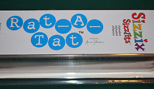 BRAND NEW SEALED ~  SIZZIX SIZZLITS RAT-A-TAT ALPHABET SET 35 DIES  140 SHAPES