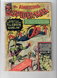 AMAZING SPIDER-MAN #14 - Grade 2.0 - First appearance of the GREEN GOBLIN!