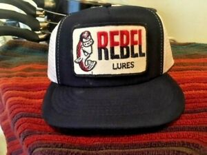 REBEL FISHING LURE HAT CAP