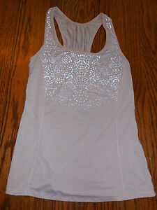 Lululemon pink silver bullet running workout yoga top tank size 6 small $58