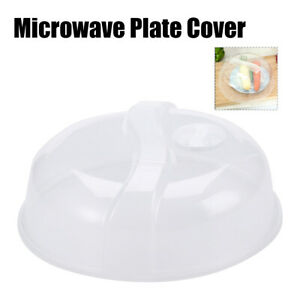 Plastic Microwave Plate Cover Clear Steam Vent Food Dish Splatter Lid 10.25quot; USA