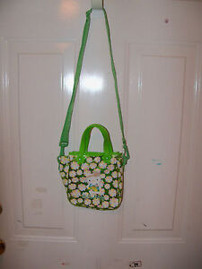 Hello Kitty Green Flower Purse EUC