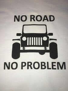 1 JEEP No Road No Problem Quilt Block SEWING SQUARE WRANGLER fabric material $12.99