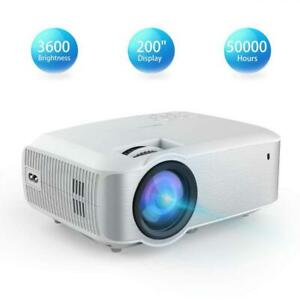 Video Projector TOPVISION Native 720P Full HD LED Projector 2019 Upgraded...