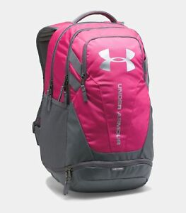Under Armour Hustle 3.0 Backpack with Laptop Sleeve Color Tropic Pink  Graphite